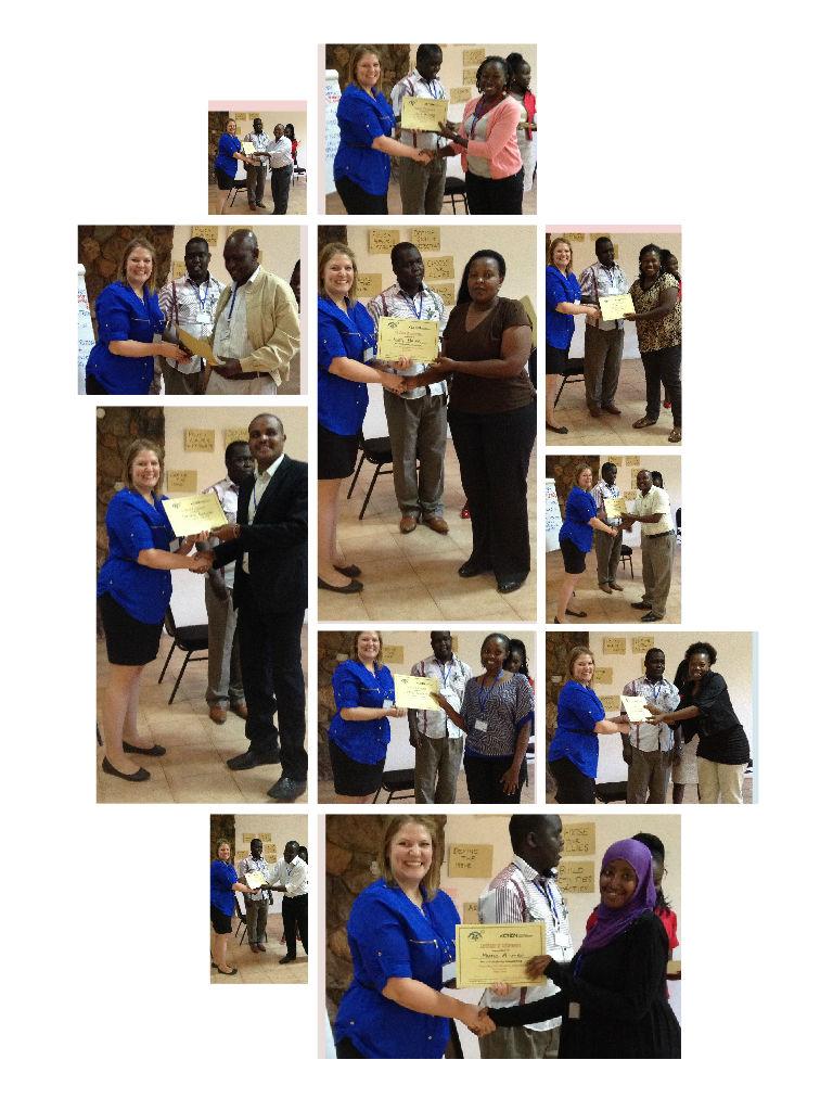 Participants receive their certificates