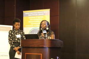 Christine Muyama at the Global Nutrition Report East Africa Launch in May 2015. Photo credit: ACTION