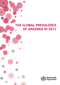 The Global Prevalence of Anaemia in 2011