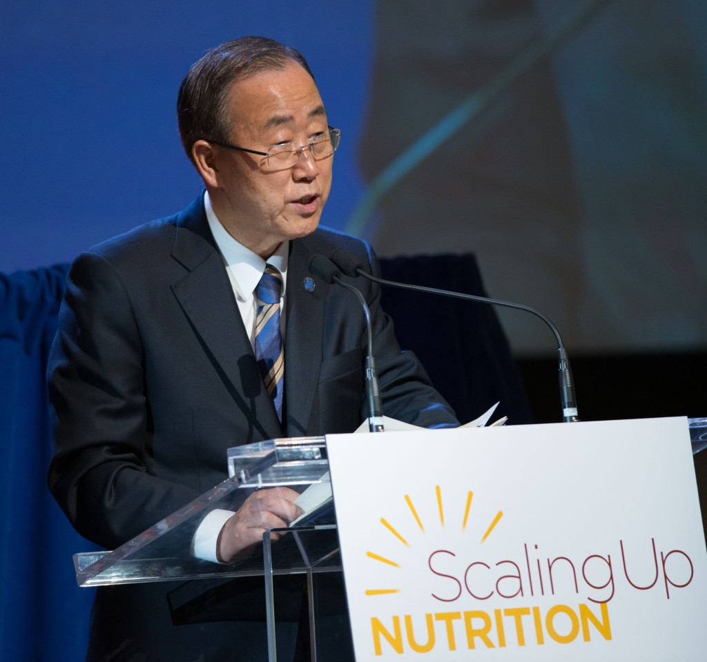 United Nations Secretary-General, Ban Ki-moon at the 2012 SUN Movement Focal Point Meeting
