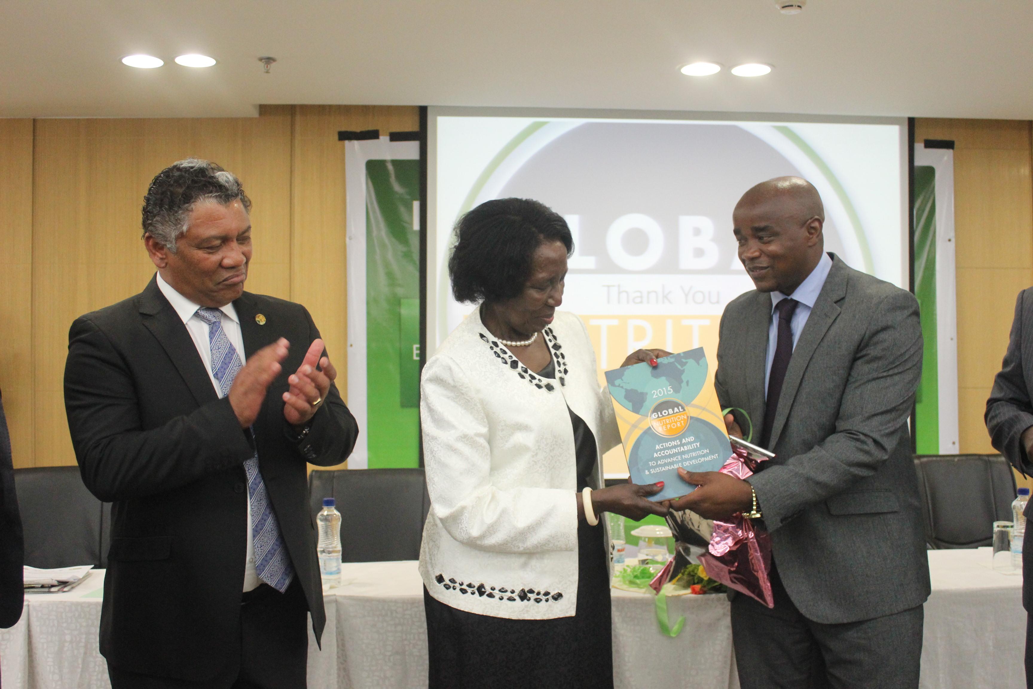 Hon. Lubinda Vice President Inonge Wina and William Chilufya © Chanda Chilufya
