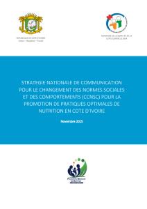 Strategie Nationale de Communication pour le changement des normes sociales et des comportements