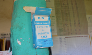 Box of Iodized salt hung at Zallema Health Post © Kenaw G/ECSC-SUN