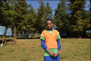 Muluken Wale, Member of School Club © Kenaw G/ECSC-SUN