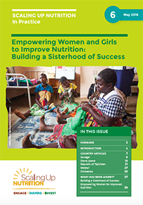 Empowering Women and Girls to Improve Nutrition