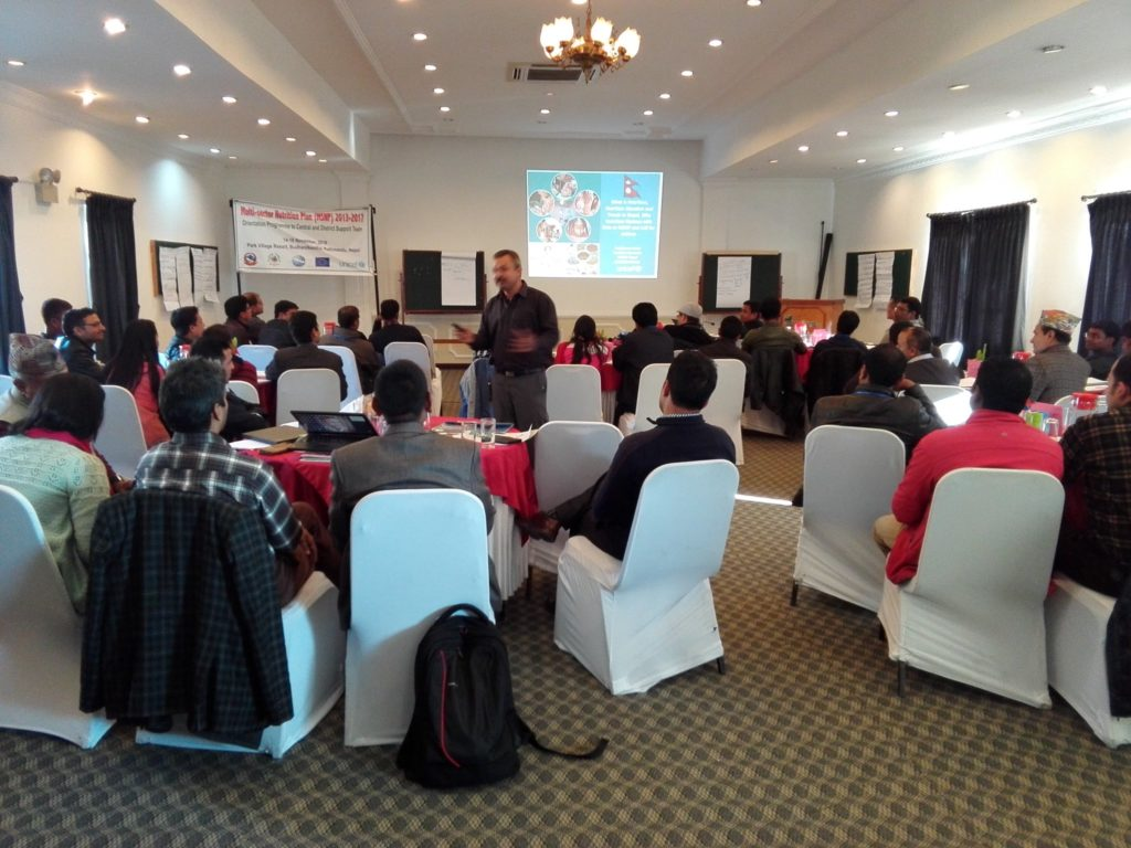 Pradiumna Dahal, Nutrition Specialist at UNICEF facilitates an interactive session on current situation, gaps on nutrition in Nepal. Photo: Twitter / HERD Nepal