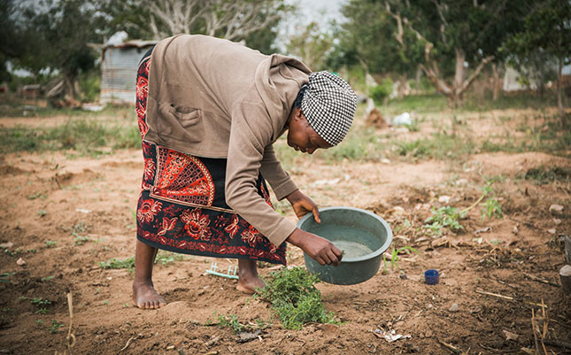 Julietta Chauque, 42, from Marien Ngouabi in Mozambique. 63% of Mozambique's rural population live without access to safe water.
